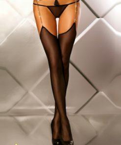 Glamourous - Bas porte-jarretelles bijou