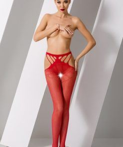Collants ouverts S001 - Rouge