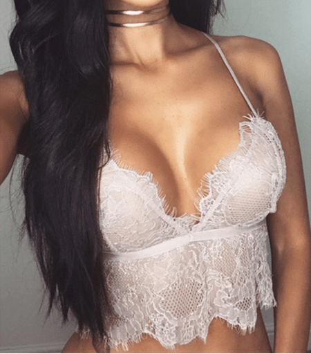 Bustier triangle dentelle