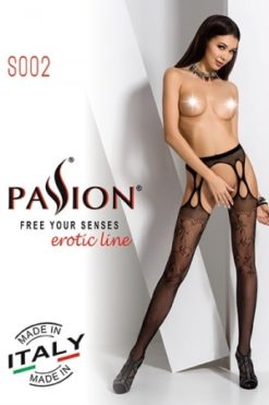Collants ouverts S002 - Rouge-2