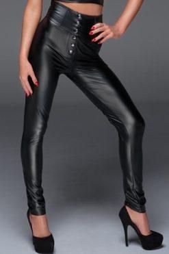 Pantalon taille haute avec laçage F148-3