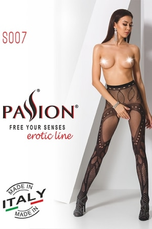 Collants ouverts S007 - Rouge-2