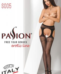Collants ouverts S005 - Rouge-2
