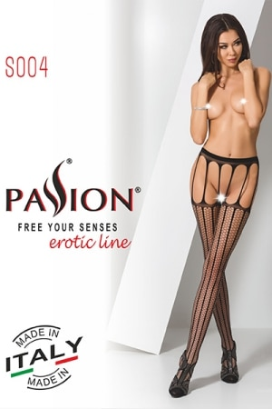 Collants ouverts S004 - Rouge-2