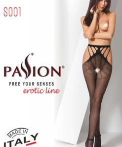 Collants ouverts S001 - Rouge-2
