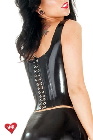 Boned Corset Top Latex-2