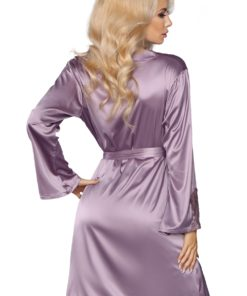Maverick Peignoir satin violine