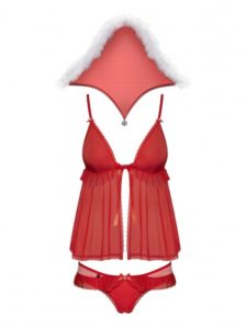Ensemble lingerie rouge