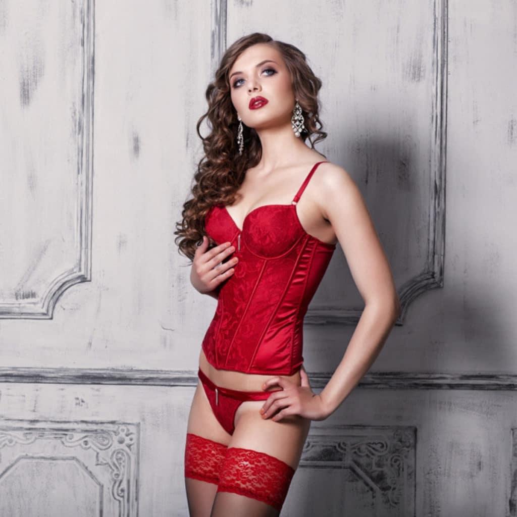 la lingerie rouge pour la saint valentin
