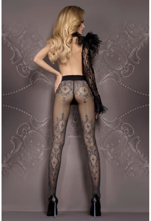 Collants fantaisies noir et bleu Art 412