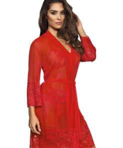 Peignoir rouge Axami V-8860