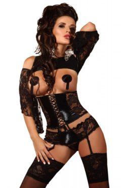 ensemble-noir-tentateur-shorty-porte-jarretelles-priscilla