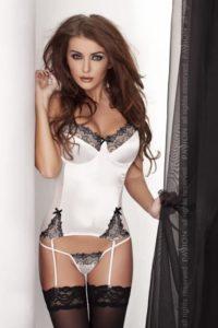 corset blanc sexy