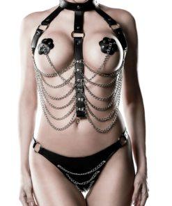 Ensemble harnais chaines et string assorti
