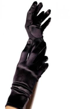 gants longs en satin