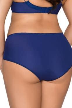 Culotte taille haute bleue