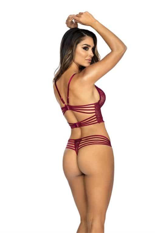 Semi corset bordeaux