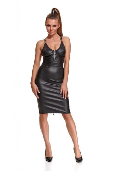 Jupe noire en eco-cuir